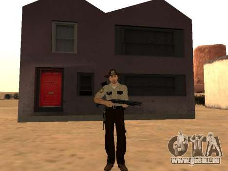Rick Grimes pour GTA San Andreas deuxième écran