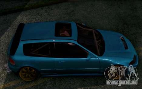 Honda Civic EG6 Tube Frame für GTA San Andreas zurück linke Ansicht