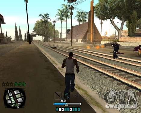 C-HUD Old Tawer pour GTA San Andreas deuxième écran