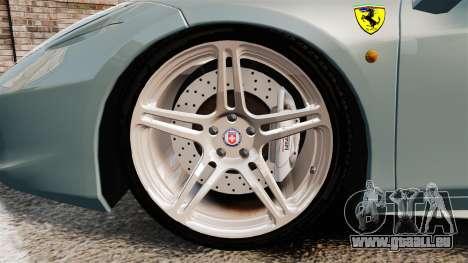 Ferrari 458 Italia 2009 für GTA 4 Rückansicht