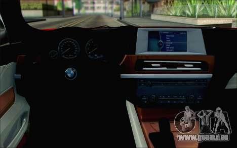 BMW 6 Gran Coupe v1.0 pour GTA San Andreas vue de droite