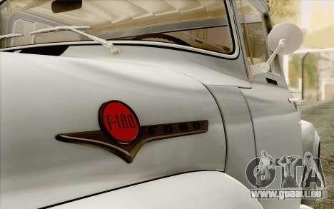 Ford F100 1956 für GTA San Andreas rechten Ansicht