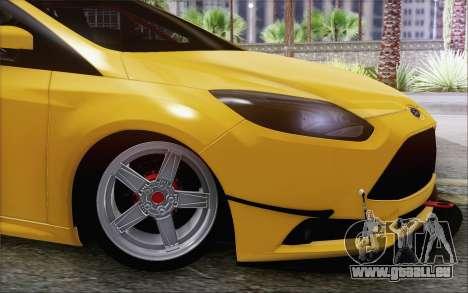 Ford Focus ST pour GTA San Andreas sur la vue arrière gauche