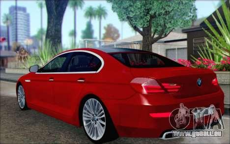 BMW 6 Gran Coupe v1.0 pour GTA San Andreas laissé vue