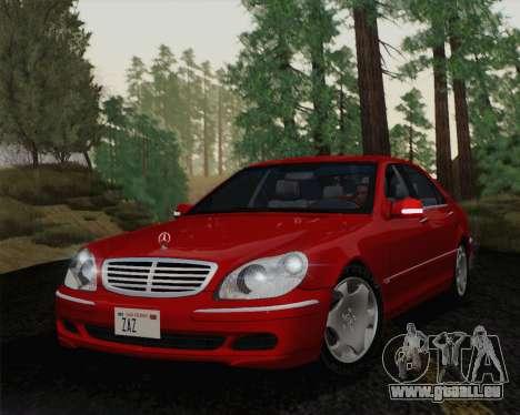Mercedes-Benz S600 Biturbo 2003 pour GTA San Andreas laissé vue