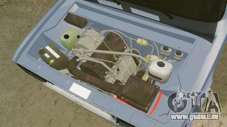 LADA 2107 Time Attack Racer pour GTA 4 est une vue de l'intérieur