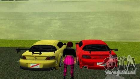 Mazda RX8 Type 1 pour GTA Vice City sur la vue arrière gauche