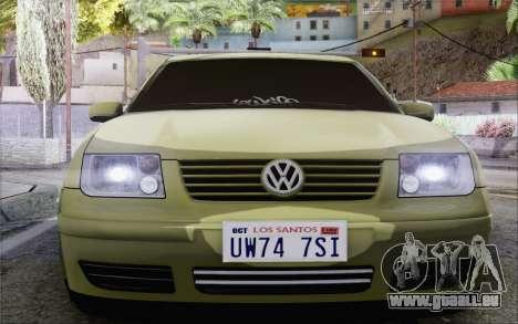 Volkswagen Bora Stance pour GTA San Andreas vue de droite