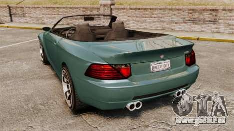 GTA V Zion XS Cabrio pour GTA 4 Vue arrière de la gauche