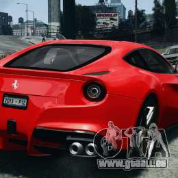 Ferrari F12 Berlinetta 2013 Modified Edition EPM für GTA 4 hinten links Ansicht