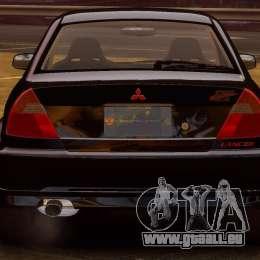 Mitsubishi Lancer Evolution VI GSR 1999 pour GTA 4 est un droit