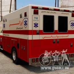 Ambulance iranienne pour GTA 4 Vue arrière de la gauche