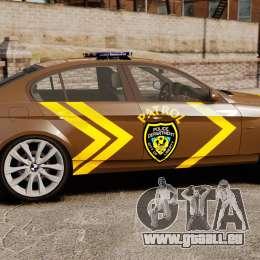 BMW 350i Indonesia Police v2 [ELS] für GTA 4 linke Ansicht