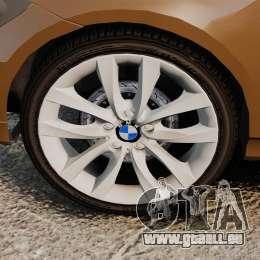 BMW 350i Indonesia Police v2 [ELS] für GTA 4 Rückansicht