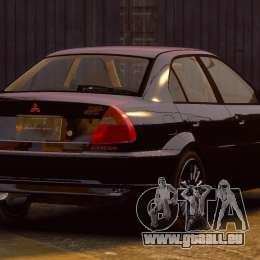 Mitsubishi Lancer Evolution VI GSR 1999 pour GTA 4 est une gauche