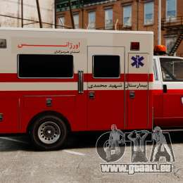 Iranische Krankenwagen für GTA 4 linke Ansicht
