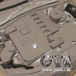 BMW 350i Indonesia Police v2 [ELS] pour GTA 4 est une vue de l'intérieur