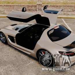 Mercedes-Benz SLS AMG Black Series 2014 pour GTA 4 vue de dessus