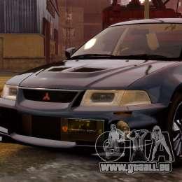 Mitsubishi Lancer Evolution VI GSR 1999 pour GTA 4 Vue arrière de la gauche