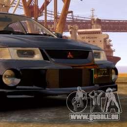 Mitsubishi Lancer Evolution VI GSR 1999 pour GTA 4 Vue arrière