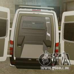 Mercedes-Benz Sprinter 2500 Prisoner Transport pour GTA 4 est un côté