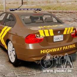 BMW 350i Indonesia Police v2 [ELS] für GTA 4 hinten links Ansicht