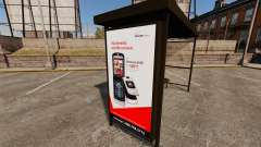 Neue Werbeplakate an den Bushaltestellen