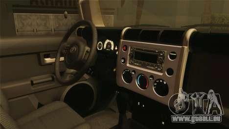 Toyota FJ Cruiser 2012 pour GTA San Andreas vue arrière