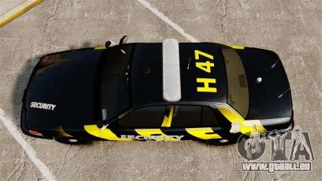 Ford Crown Victoria 2008 Security Patrol [ELS] für GTA 4 rechte Ansicht