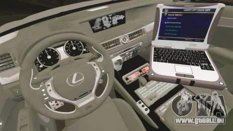 Lexus GS350 West Midlands Police [ELS] pour GTA 4 Vue arrière