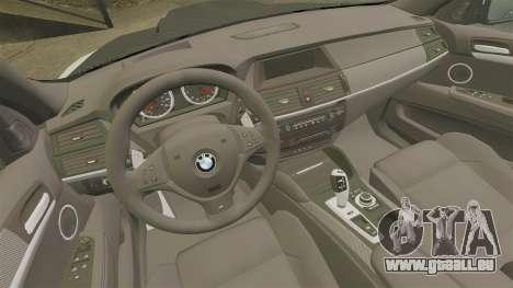 BMW X6 M HAMANN 2012 pour GTA 4 est un côté