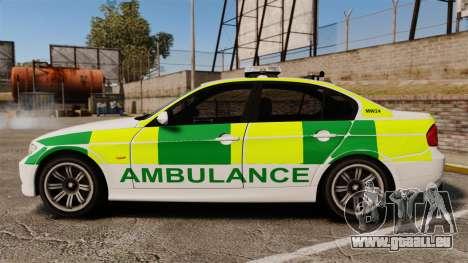 BMW 330i Ambulance [ELS] pour GTA 4 est une gauche