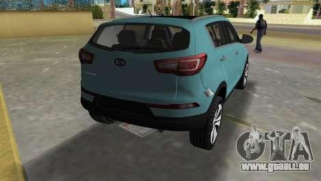 Kia Sportage pour GTA Vice City sur la vue arrière gauche