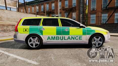 Volvo V70 Ambulance [ELS] für GTA 4 linke Ansicht