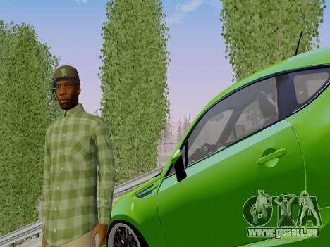 Le membre de gang de Grove Street de GTA 5 pour GTA San Andreas troisième écran