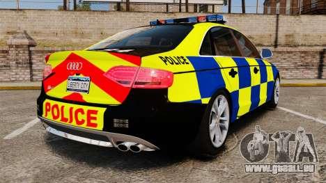 Audi S4 Police [ELS] pour GTA 4 Vue arrière de la gauche