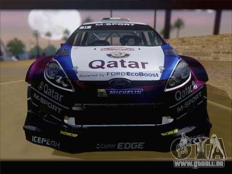Ford Fiesta RS WRC 2013 pour GTA San Andreas vue intérieure