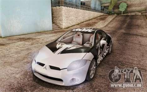 Mitsubishi Eclipse GT v2 für GTA San Andreas obere Ansicht