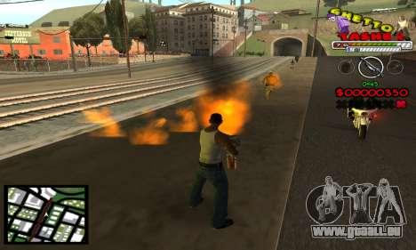 C-Hud Getto Tawer pour GTA San Andreas troisième écran