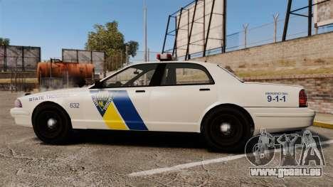 GTA V Vapid State Police Cruiser [ELS] pour GTA 4 est une gauche