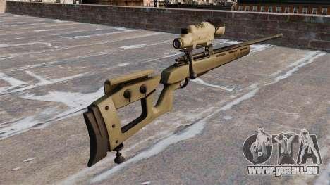 GOL-Sniper-Gewehr-Sniper Magnum für GTA 4 Sekunden Bildschirm