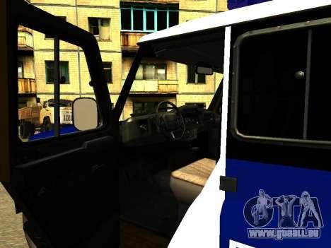 UAZ Hunter-PPP für GTA San Andreas Innenansicht