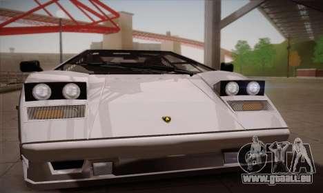 Lamborghini Countach 25th Anniversary pour GTA San Andreas sur la vue arrière gauche