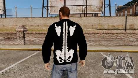 Schwarzer Pullover-Skelett für GTA 4 Sekunden Bildschirm
