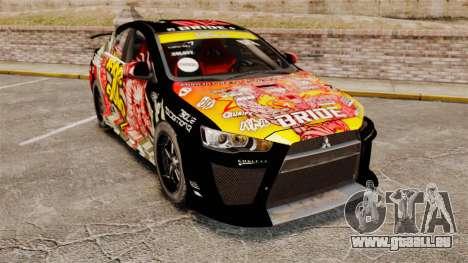 Mitsubishi Lancer Evolution X Ryo King pour GTA 4
