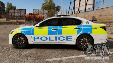 Lexus GS350 West Midlands Police [ELS] pour GTA 4 est une gauche
