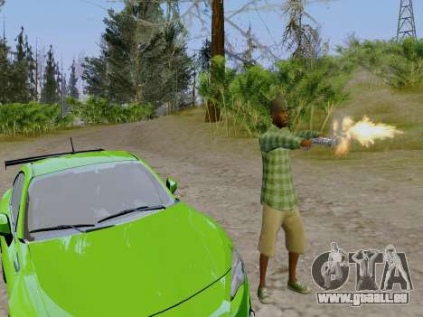 Le membre de gang de Grove Street de GTA 5 pour GTA San Andreas quatrième écran
