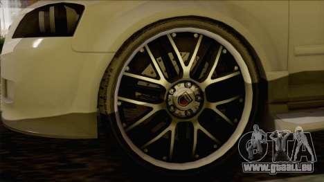 Audi S3 für GTA San Andreas zurück linke Ansicht