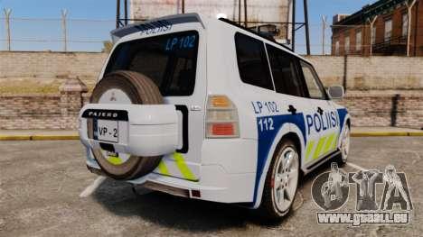 Mitsubishi Pajero Finnish Police [ELS] pour GTA 4 Vue arrière de la gauche
