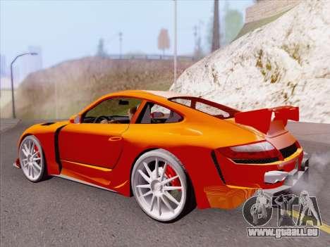 Porsche Carrera S pour GTA San Andreas vue de dessous